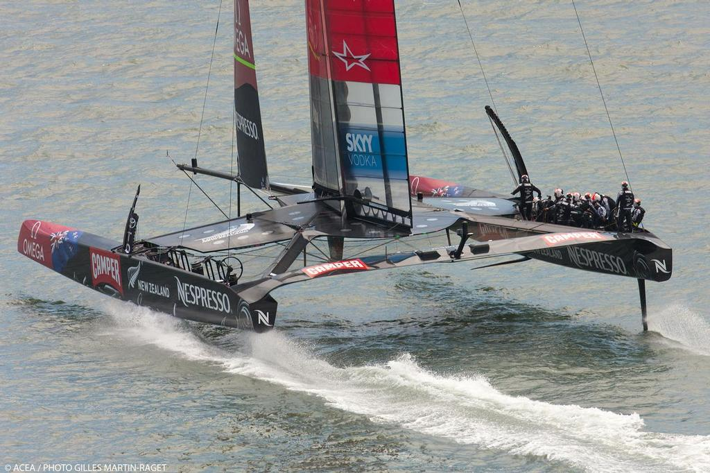 34th America's Cup - Day 1 of racing for the LV Cup, Emirates Team NZ © ACEA - Photo Gilles Martin-Raget http://photo.americascup.com/