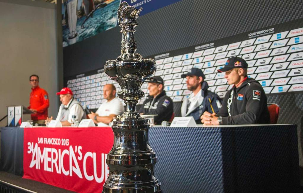 San Francisco, 05/07/13<br /> 34th America's Cup<br /> Press Conference, <br /> Massimiliano Sirena - Skipper Luna Rossa<br /> Protected by Copyright &copy; Carlo Borlenghi/Luna Rossa http://www.lunarossachallenge.com