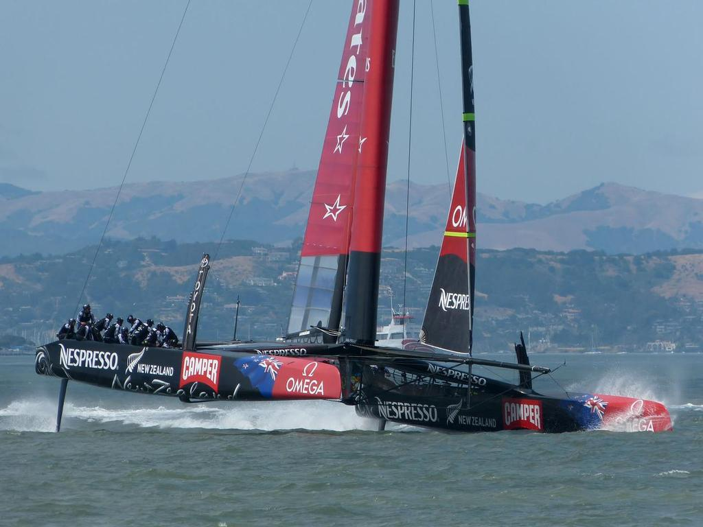 Emirates Team NZ earlier this week photo copyright John Navas  taken at  and featuring the  class