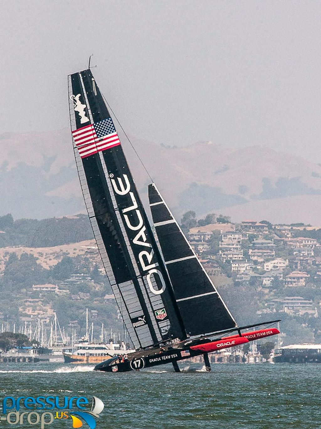 A big leap from Oracle Team USA17 - San Francisco, May 23, 2013 © Erik Simonson/ pressure-drop.us http://www.pressure-drop.us