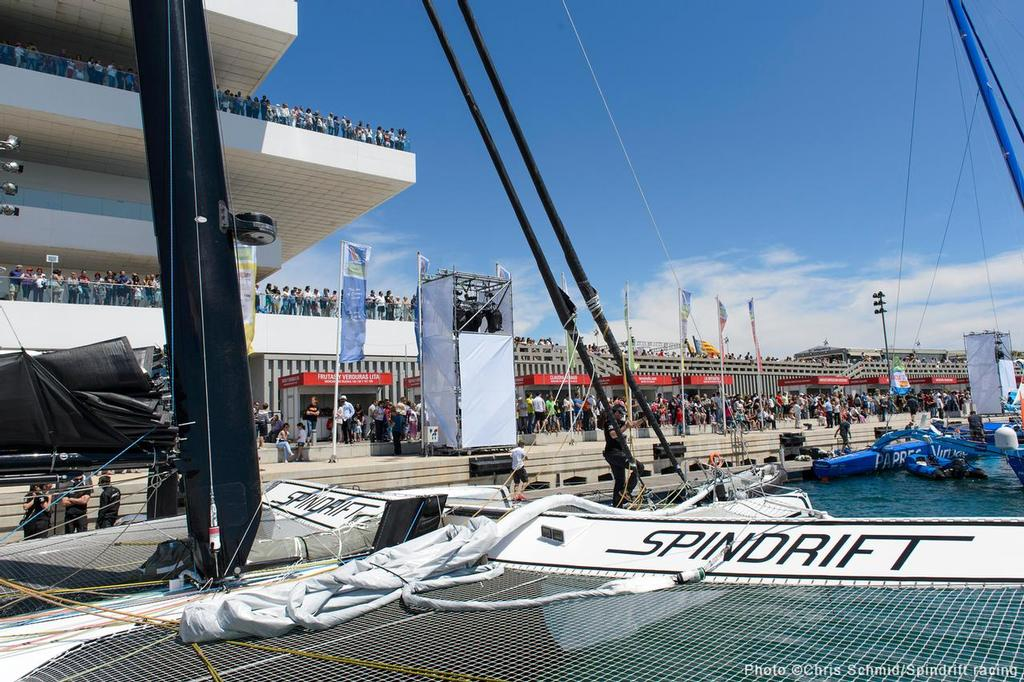 Spindrift -  MOD 70 racing in the 2013 Route des Princes © Chris Schmid/Spindrift Racing