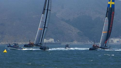 Artemis Racing (AC45's) - San Francisco - July 2, 2013 Practice © John Navas