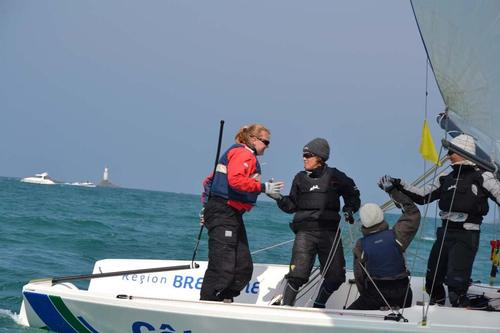 St Quay Women Match Racing 2013 – 18 May 2013 ©  Benjamin Godefroid http://www.wimrs.com/