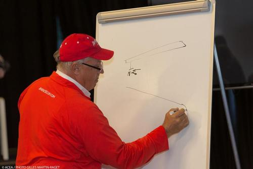 34th America's Cup - Iain Murray press conference about safety © ACEA - Photo Gilles Martin-Raget http://photo.americascup.com/
