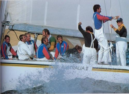 Grant Simmer's first America's Cup win was as navigator aboard Australia II in 1983 © SW