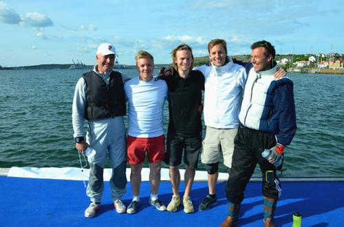 Henrik Eyermann and his team after qualifying for Stena Match Cup 2013 © Stena Match Cup Sweden