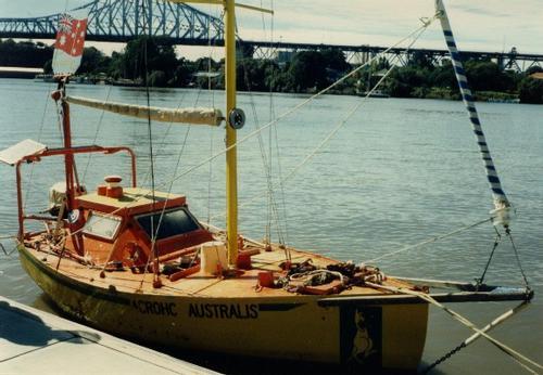 Current Record Holder Smallest Sailing Boat To Circumnavigate Acrohc Australis C SW