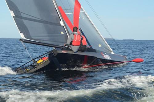 SpeedDream added to the warm-up bill for Act 4, Istanbul 2013 Extreme Sailing Series ©  Tara Roberts