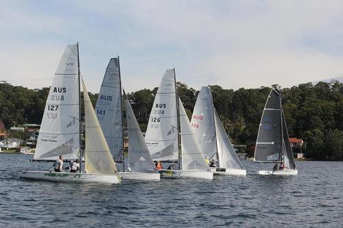 Start of the final race - VXOne Mid Winters - Lake Macquarie, NSW © Andrew York