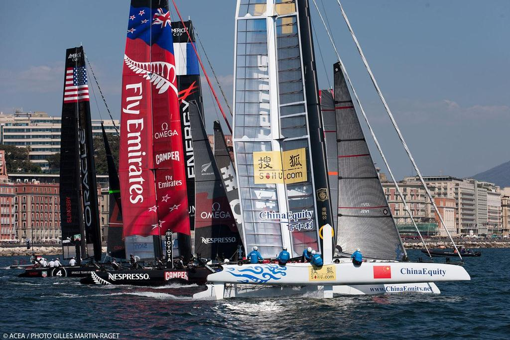America's Cup World Series Naples 2013 - Race Day One © ACEA - Photo Gilles Martin-Raget http://photo.americascup.com/