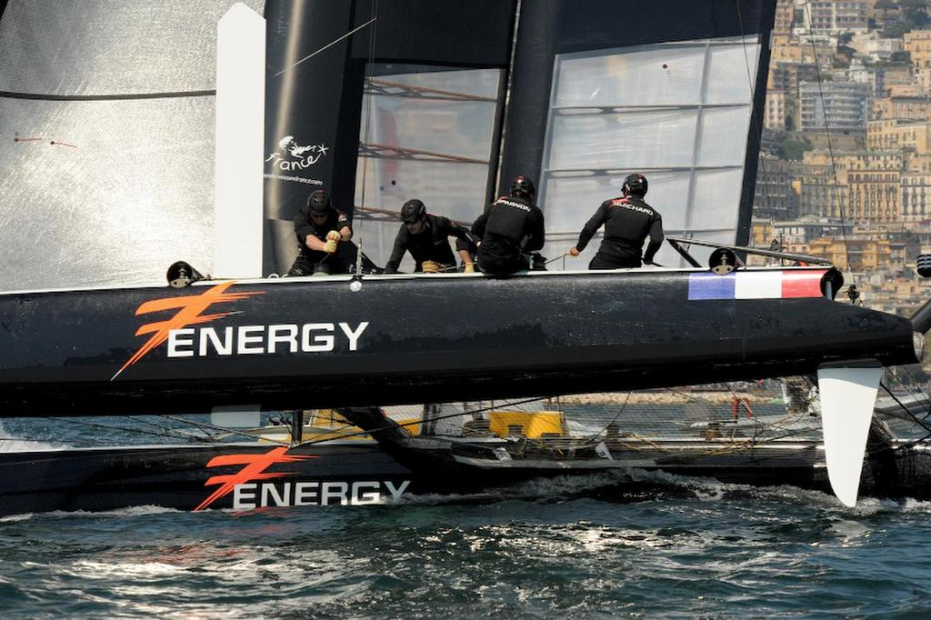 Energy Team works hard and places second overall for the day during racing at the ACWS in Naples Italy on April 19, 2013. ©  SW