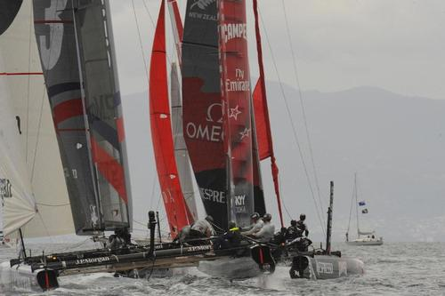 The last Fleet Race at the ACWS in Naples Italy April 21, 2013. ©  SW