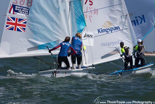 2013 World Championship 470 - Medal Race Women © Thom Touw http://www.thomtouw.com