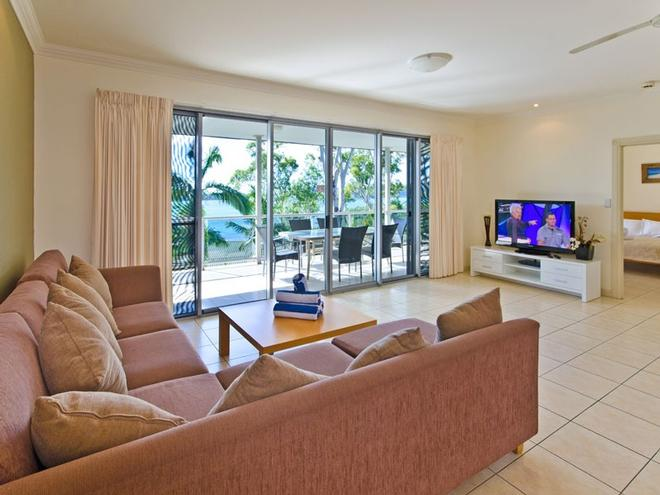 You will love the open plan design and views that the Blue Water Views apartments offer. © Kristie Kaighin http://www.whitsundayholidays.com.au
