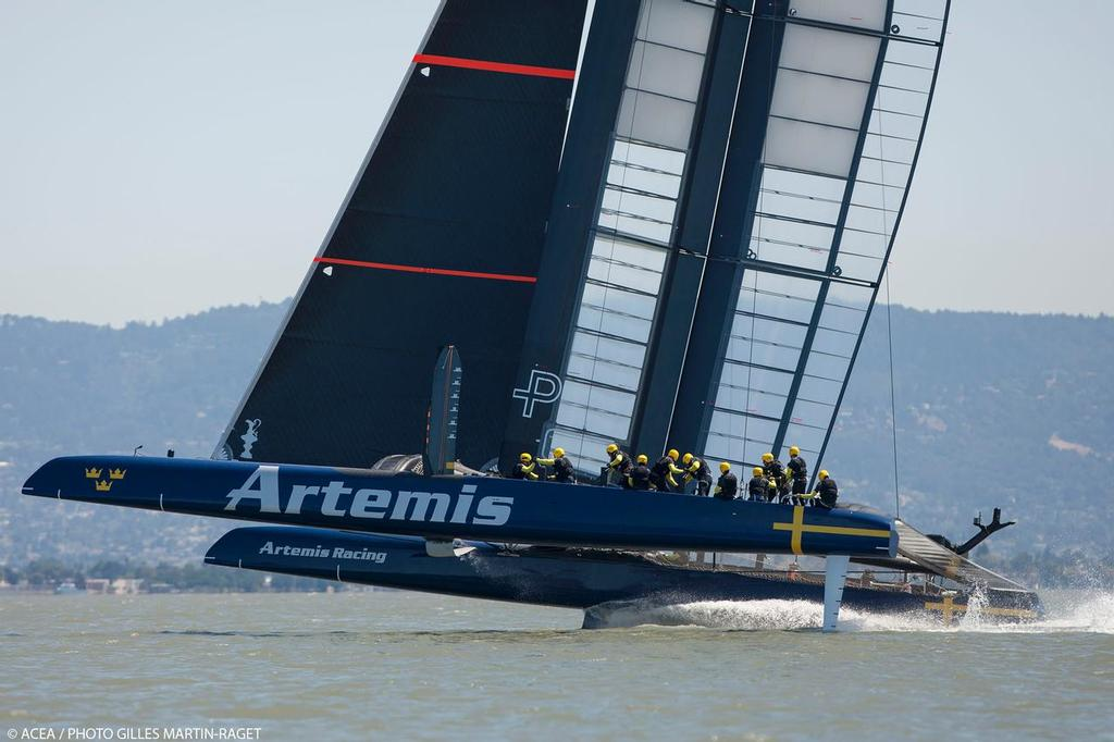 34th America's Cup - Artemis Racing AC72 first Sail © ACEA - Photo Gilles Martin-Raget http://photo.americascup.com/