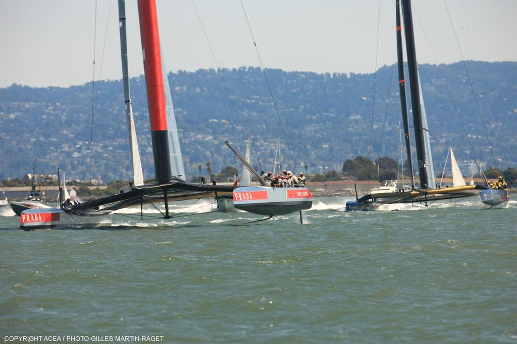 Louis Vuitton Cup, Semi-Finals Race 4; Artemis Racing vs. Luna Rossa Challenge © ACEA - Photo Gilles Martin-Raget http://photo.americascup.com/