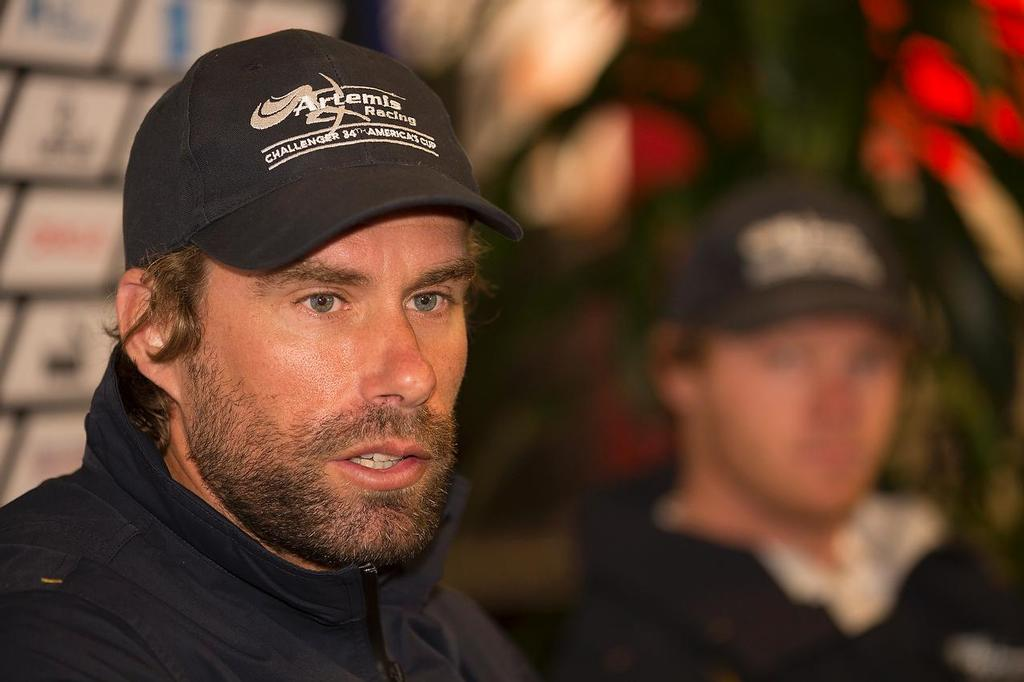 Louis Vuitton Cup - Semi- finals - Media Briefing  - Artemis skipper Iain Percy © ACEA - Photo Gilles Martin-Raget http://photo.americascup.com/
