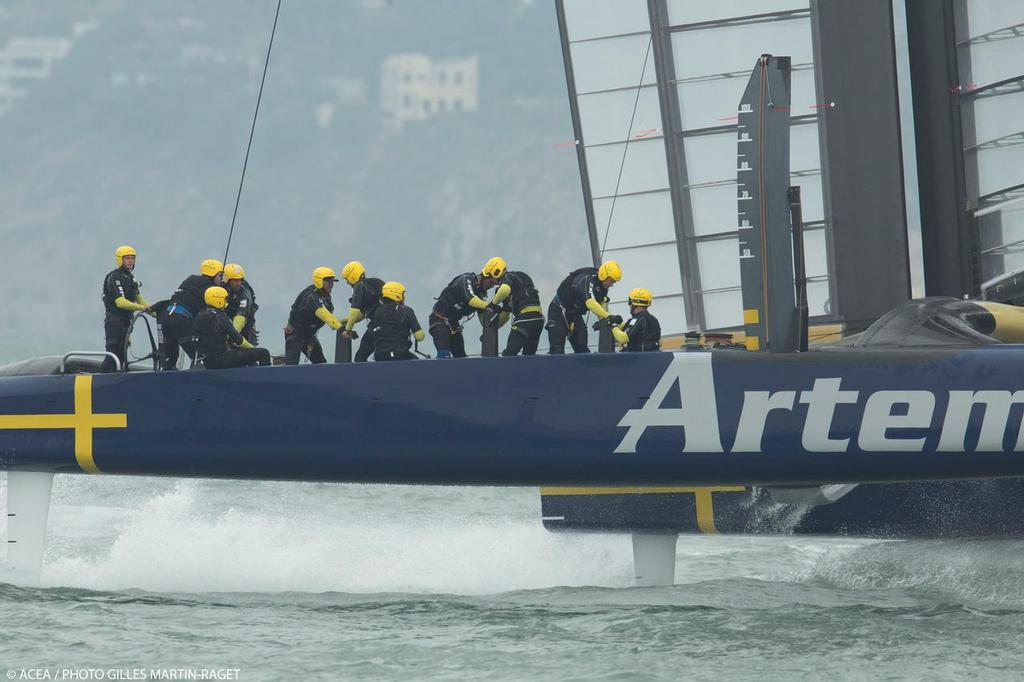 Artemis Racing training - San Francisco, July 31, 2013 © ACEA - Photo Gilles Martin-Raget http://photo.americascup.com/