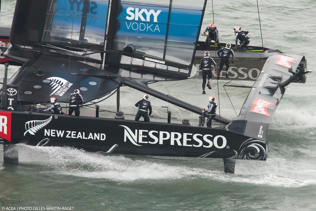 Louis Vuitton Cup - Race Day 12 - Emirates Team New Zealand © ACEA - Photo Gilles Martin-Raget http://photo.americascup.com/