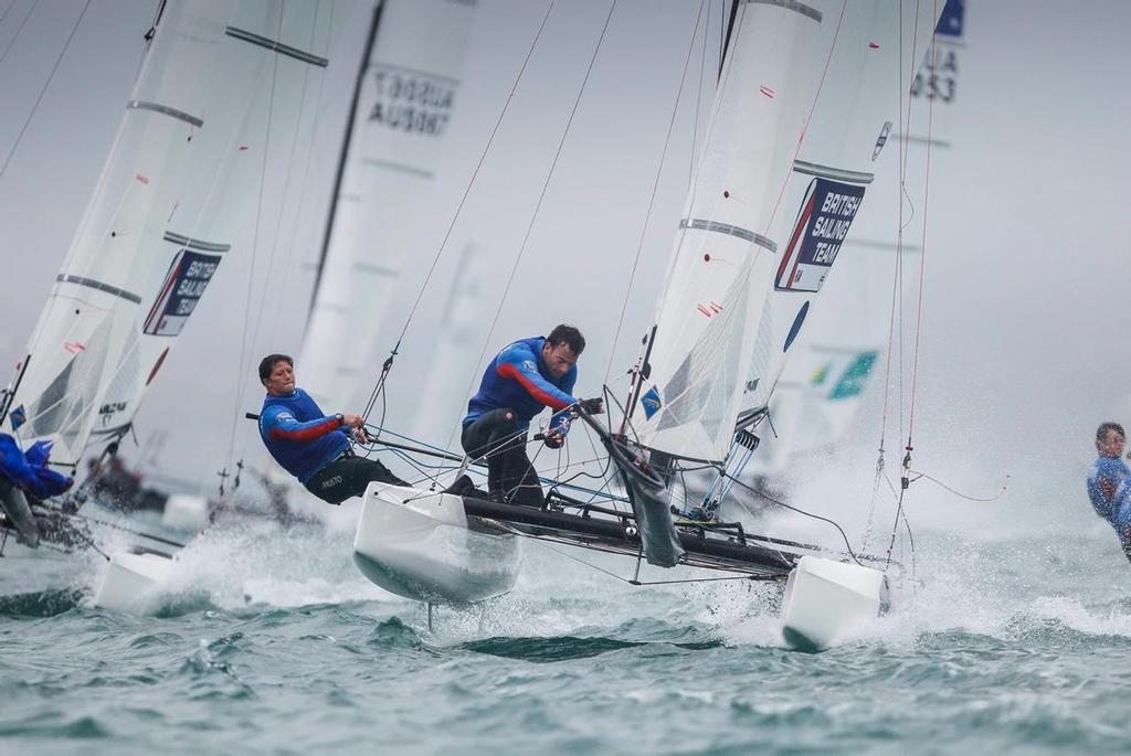 Lucy Macgregor and Tom Phipps in the Nacra 17 multihull - The British Sailing Team in the Olympic and Paralympic Classes  © Richard Langdon/British Sailing Team