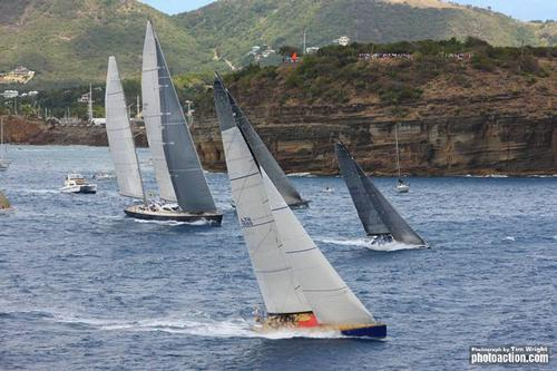 Lithuanian Volvo Ocean 60, Ambersail at the start of the 2011 RORC Caribbean 600 ©  Tim Wright / Photoaction.com http://www.photoaction.com