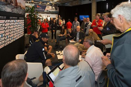Louis Vuitton Cup - Semi- finals - Media Briefing  - © ACEA - Photo Gilles Martin-Raget http://photo.americascup.com/