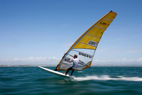 Pictures of the Volvo RS-X windsurfer Nick Dempsey training in Weymouth, UK<br />  &copy; Gustav Morin/Ericsson Racing Team/Volvo Ocean Race http://www.volvooceanrace.org