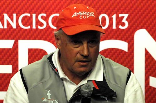 Regatta Director Iain Murray - at this morning's America's Cup media Conference © Chuck Lantz http://www.ChuckLantz.com