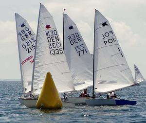 2013 OK Dinghy Europeans day 4 photo copyright Norbert Pertrausch taken at  and featuring the  class