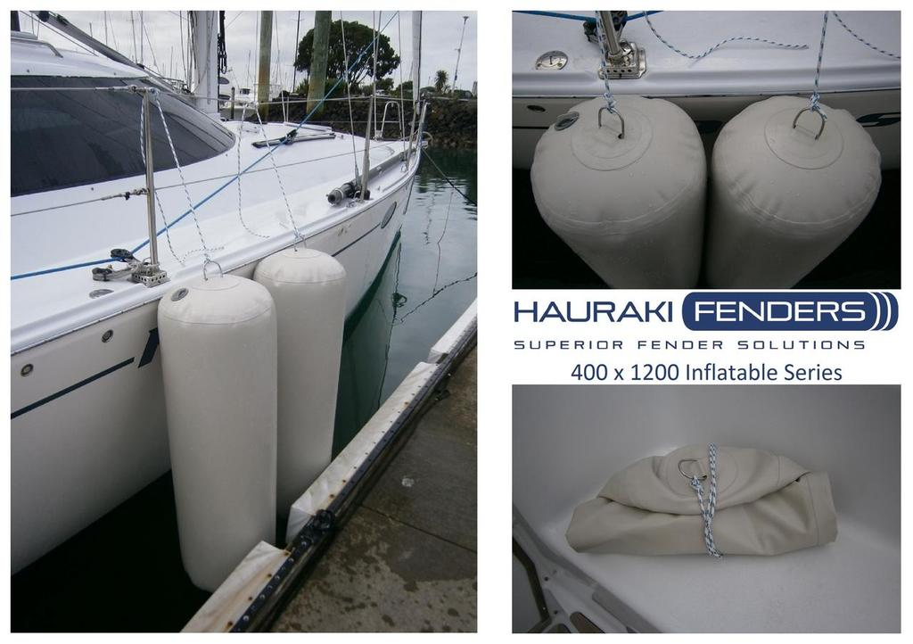 Hauraki Fenders - inflate when protection is required. And deflate for easy storage © SW