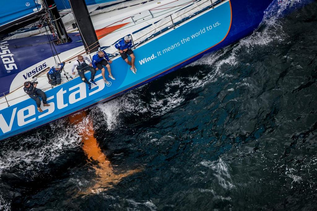 The VO65 features a canting keel pin angled at 6 degrees - In-Port race in Cape Town: Team Vestas Wind. ©  Ainhoa Sanchez/Volvo Ocean Race