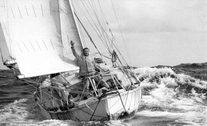 Robin Knox-Johnston aboard Suhaili at the finish of the 1968 Sunday Times Golden Globe Race - Golden Globe Race © Bill Rowntree - PPL http://www.pplmedia.com