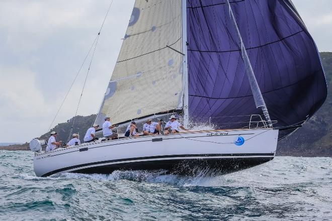 SPS Sticky launching at the heads - Sail Port Stephens © Saltwater Images