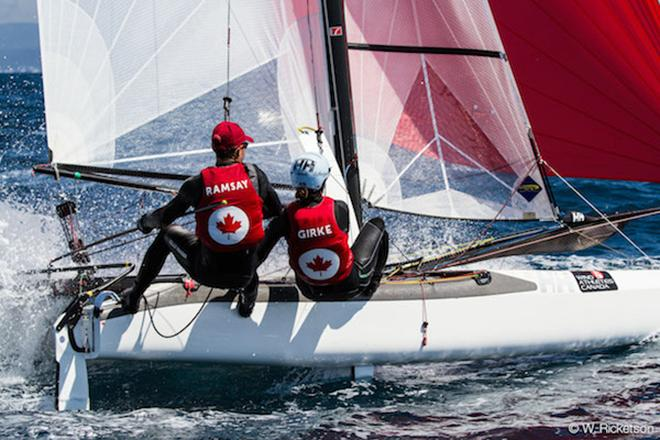 Luke Ramsay and Nikola Girke training for the Rio 2016 Olympics © Sail Canada / Voile Canada http://www.sailing.ca/