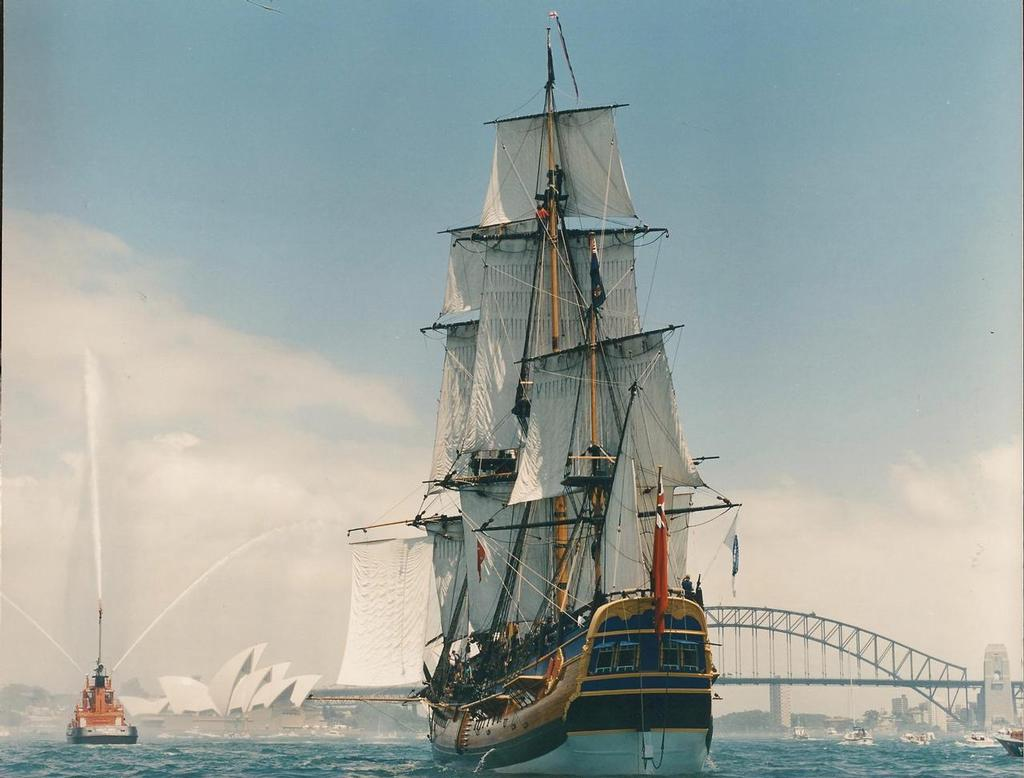 Endeavour entering Sydney Harbour at the end of her maiden voyage - John Longley image © SW