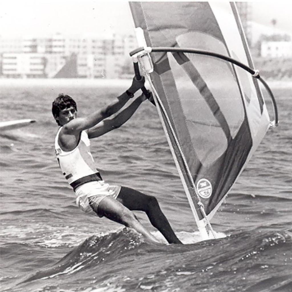 Bruce Kendall, Los Angeles Olympic Games 1984...on his way to bronze. © Bruce Kendall