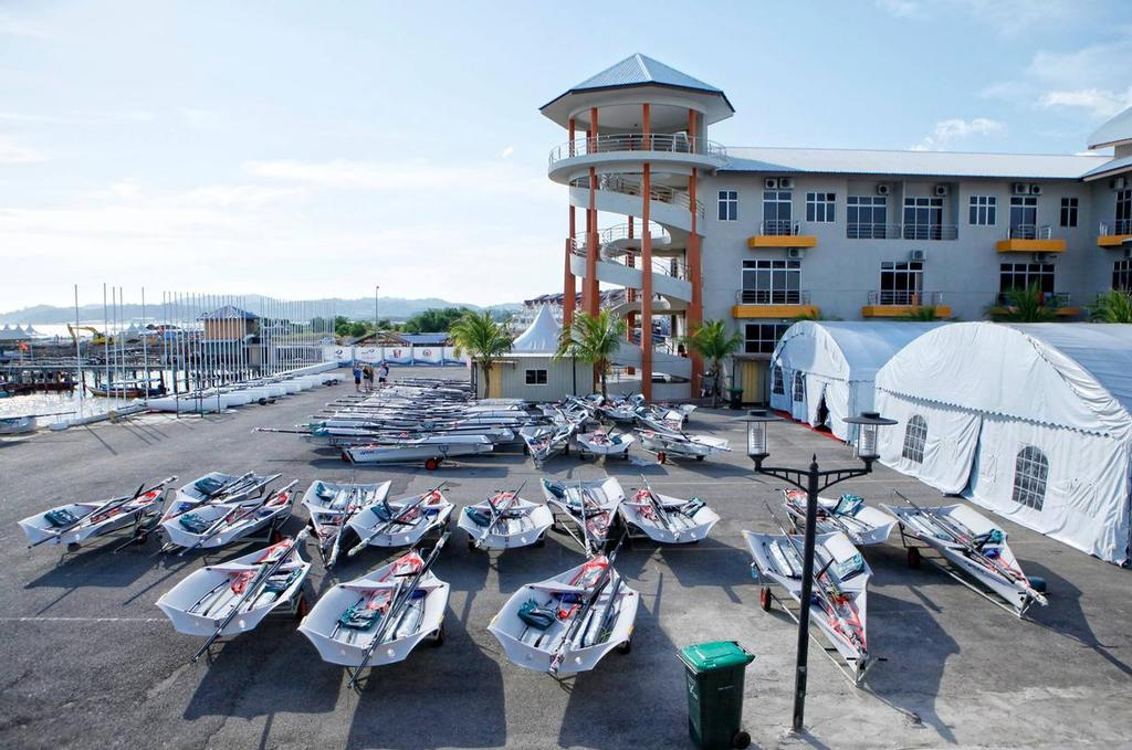 All lines up and ready to go at the 2015 World Sailing Youth Championships in Malaysia © SW