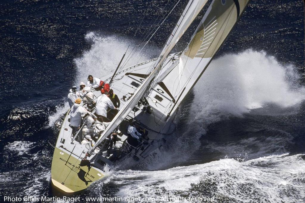 12 Metres - Australian America's Cup Defender, Kookaburra III sailing off Fremantle - 1987 America's Cup - photo © Gilles Martin-Raget