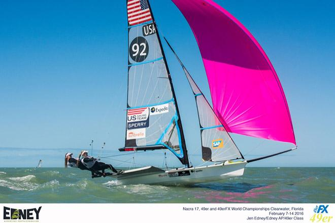 Paris Henken (Coronado, Calif.) and Helena Scutt (Kirkland, Wash.), 49erFX © Jen Edney