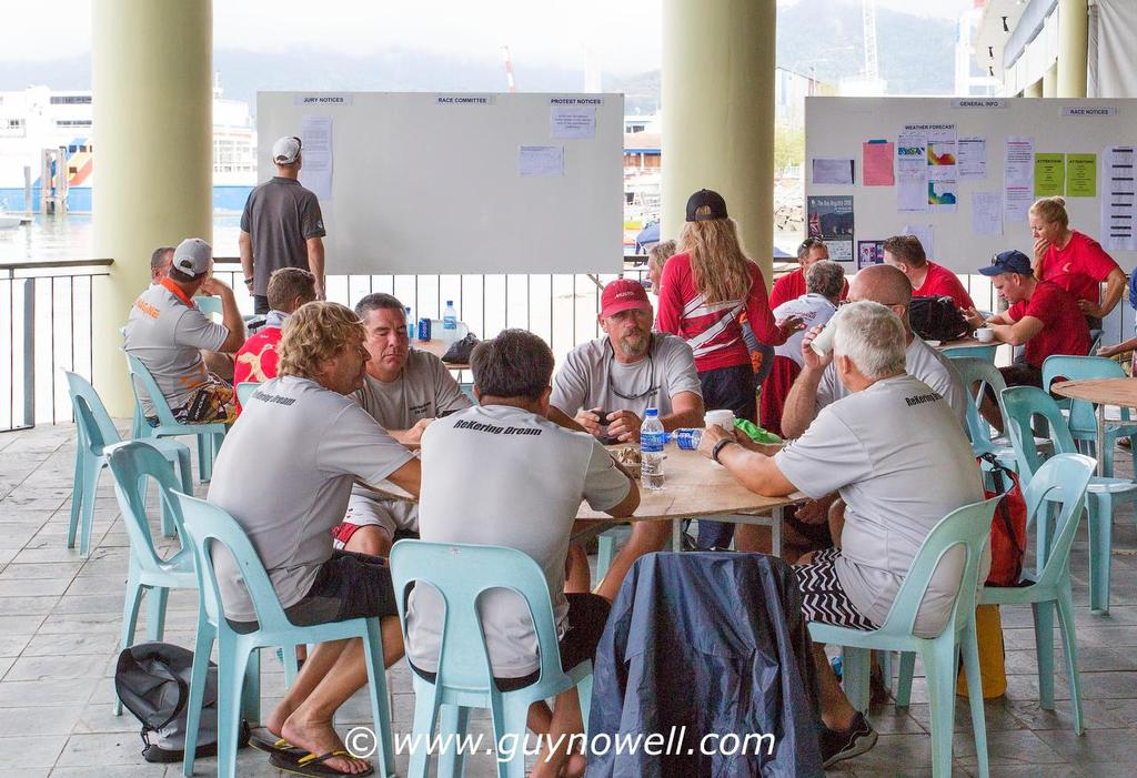 ReKering Dream planning the next campaign. Royal Langkawi International Regatta 2016. © Guy Nowell http://www.guynowell.com