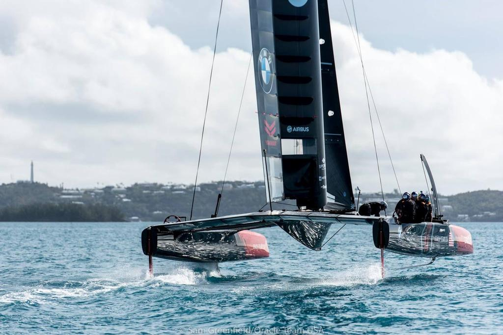 Boat 5 - AC45S - Oracle Team USA sail their Test Boat AC45S - 3,  in Bermuda © Oracle Team USA media
