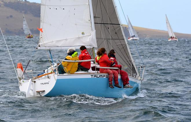 Bellerive Yacht Club's Ian Stewart sailed Trumps to a close win in Division 3 of the IOR CUp. © Peter Watson