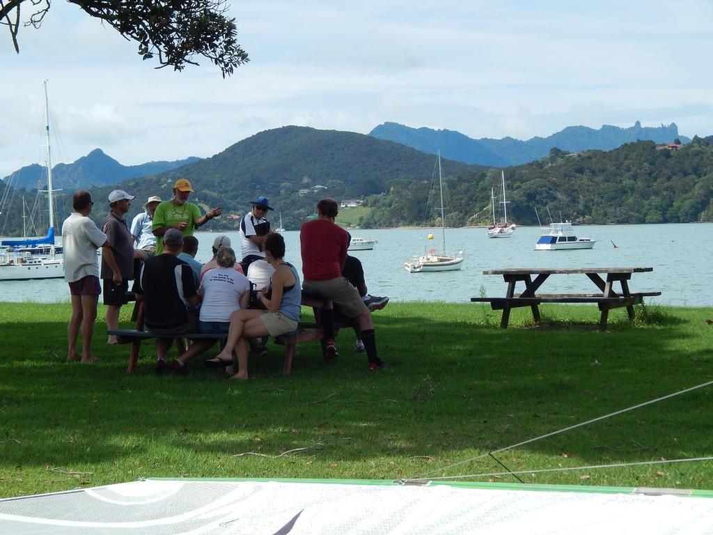 Cruisy briefing with a view - 2016 Sanders Cup © Ruth WCC
