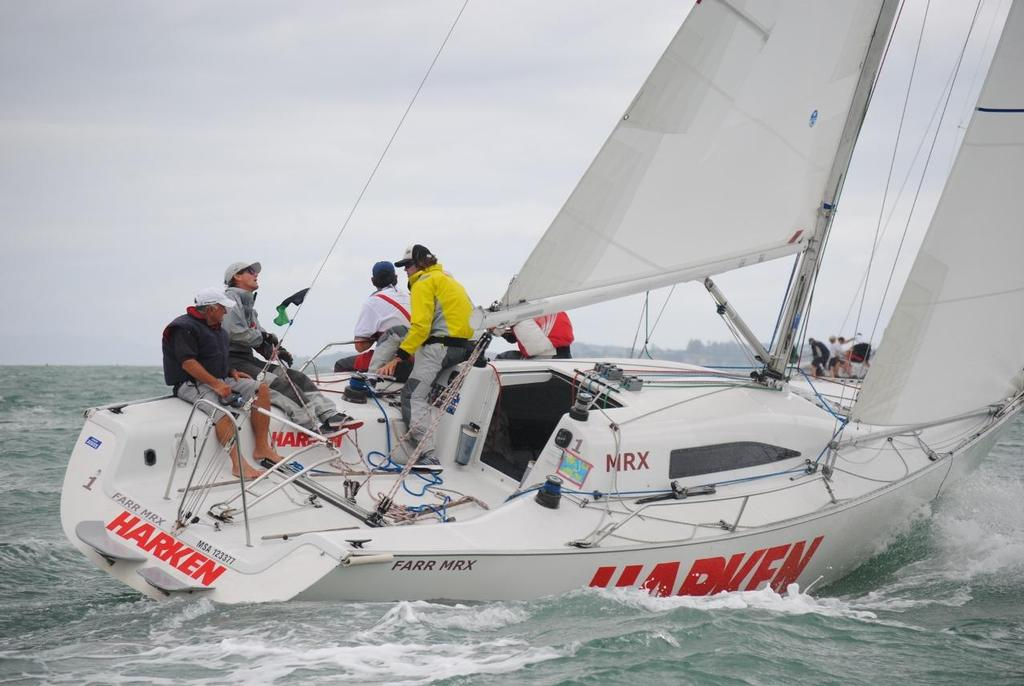 Dave McKay CSC - heads upwind in Race 3 - MRX Pacific Challenge, March  18-20, 2016 - photo © RNZYS Media