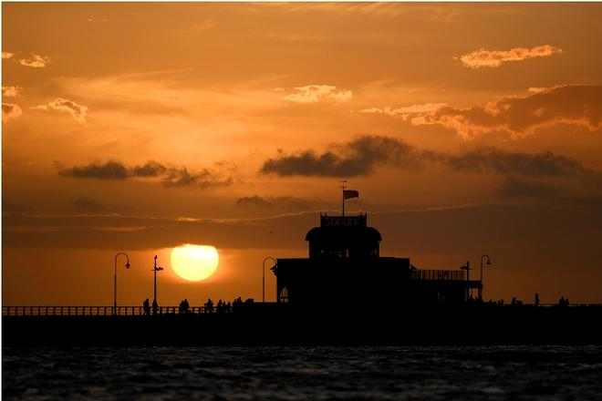 Sunset over St Kilda Pier - 2016 Sailing World Cup © World Sailing