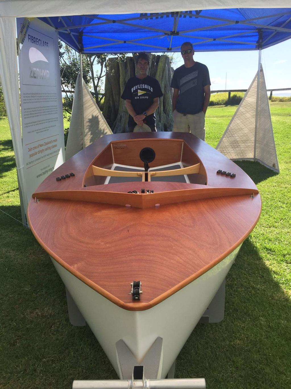 New Glass hull - 60th Zephyr Nationals - Manly, April 2016 © Zephyr Owners Association