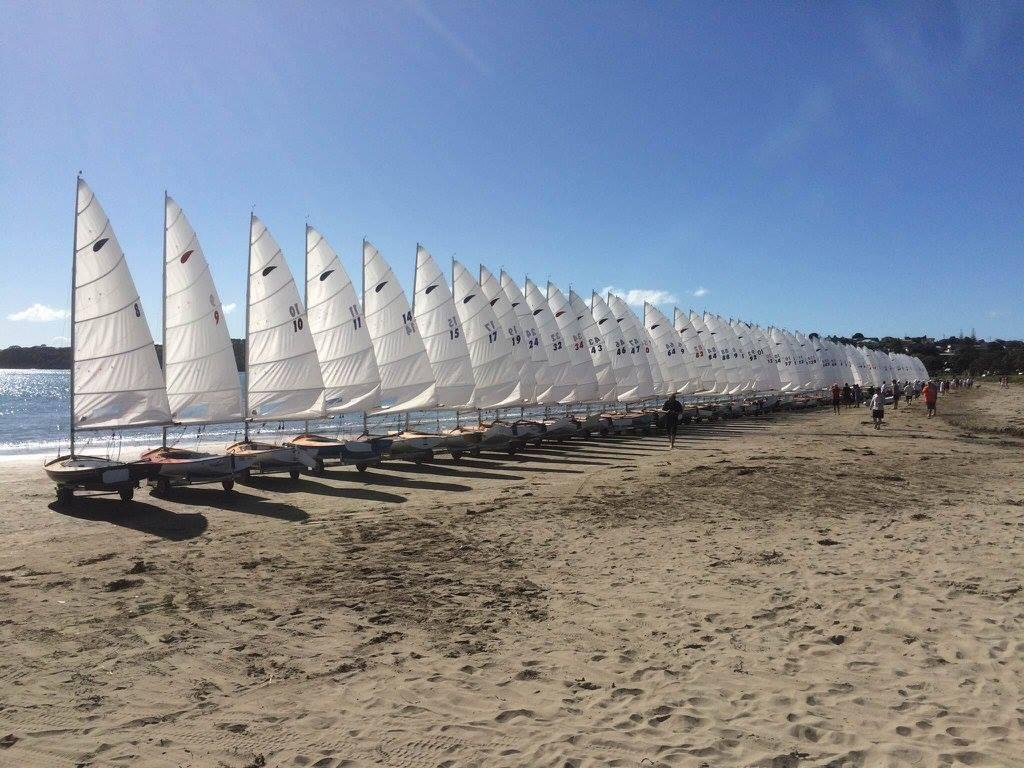 The 86 strong fleet - 60th Zephyr Nationals - Manly, April 2016 © Zephyr Owners Association