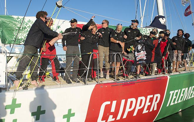 ClipperTelemed+ celebrates with Stormhoek - 2015 -16 Clipper Round the World Yacht Race © Clipper Round The World Yacht Race http://www.clipperroundtheworld.com
