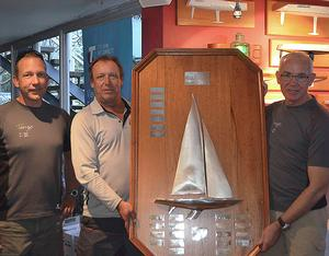 Sam Haines, Ian Walker and Chris Hampton with their 'Trophy'. Thankfully they did not have to worry about getting it on the plane home. - Etchells Brisbane Winter Championship photo copyright Emily Scott taken at  and featuring the  class