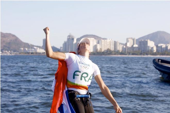 Charline relief - Women's Windsurfer (RS:X) - Rio Olympics © World Sailing